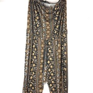 Ambiance | Boho Floral Strapless Jumpsuit